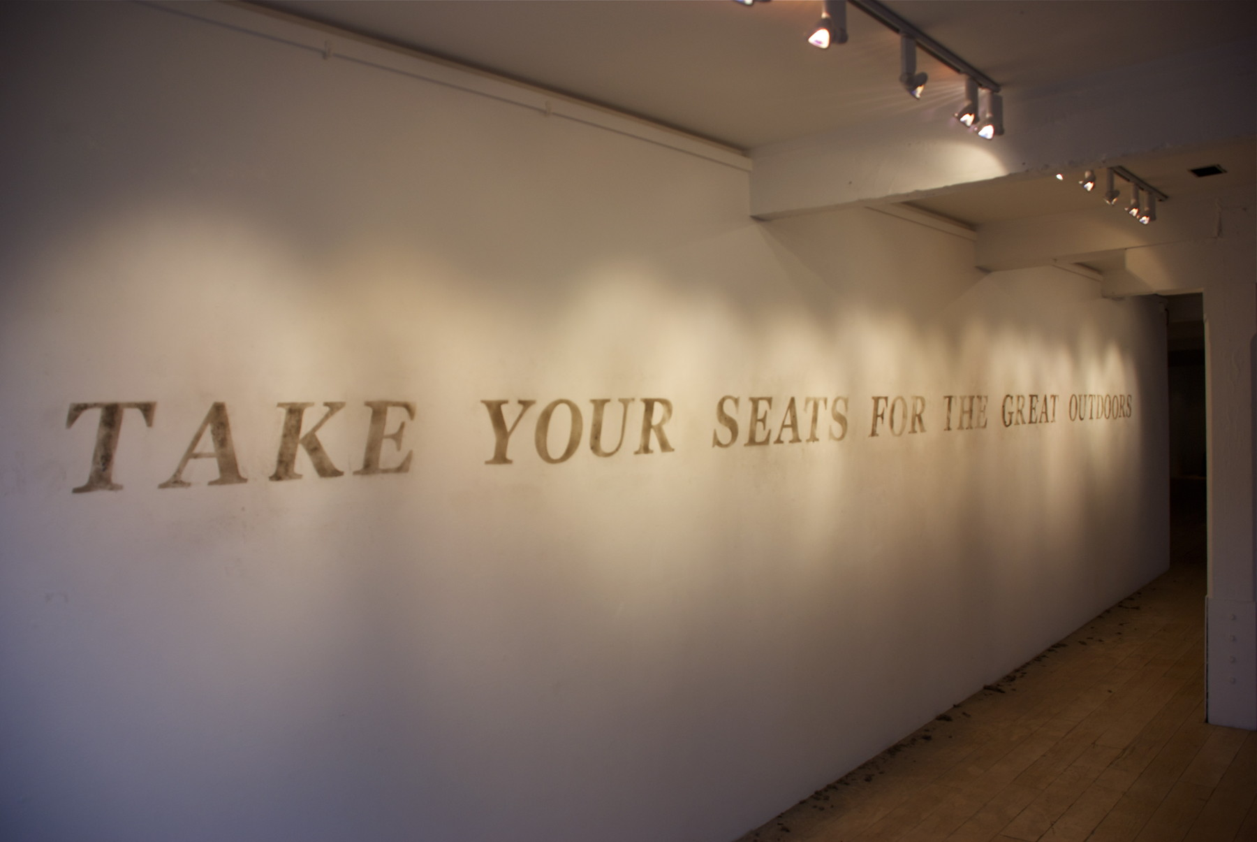 Take Your Seats For The Great Outdoors-Dust Text